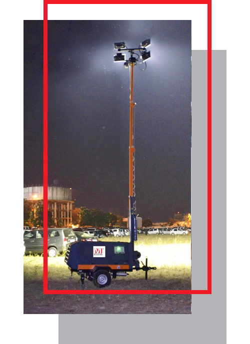 Mobile Lighting Tower on Rent
