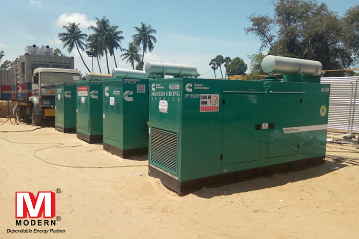 Generator on Rental For Construction
