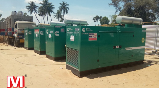 Generator for rent for food and beverages industry
